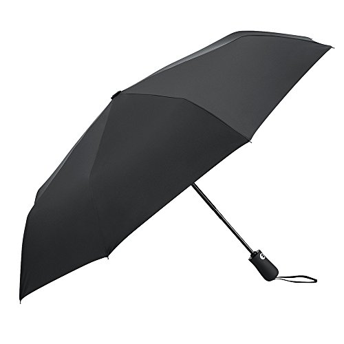 Plemo Upgraded Bounce-Avoid Windproof Automatic Open & Close Umbrella, Inner Layer with UV Coat Skin Protective, Business Travel or Daily Use, Classic Black