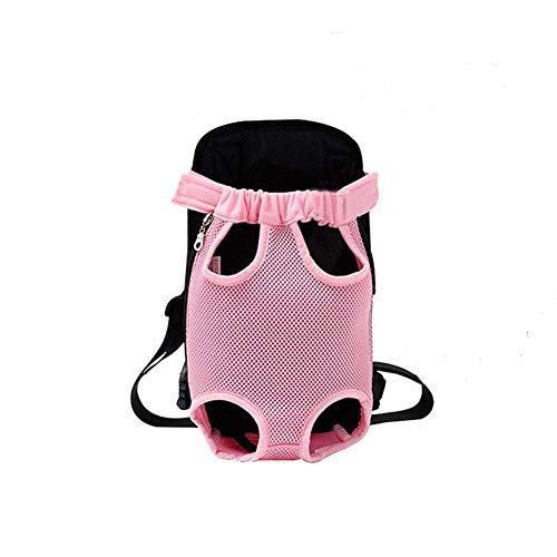 YINGJEE Dog Carrier Pink Legs Out Front Pet Carrier Backpack Comfortable Puppy Bag with Shoulder Strap and Sling for Travel Hiking Camping Outdoor
