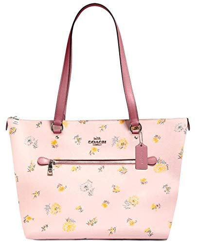 COACH Gallery Tote with Dandelion Floral Print - blossom green multi pink multi