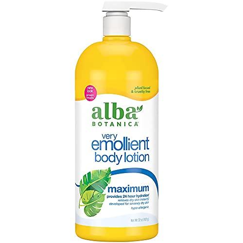 Alba Botanica Very Emollient Body Lotion, Maximum Dry Skin Formula, 32...