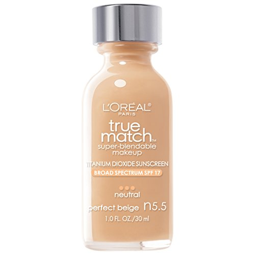 L'Oreal Paris True Match Super Blendable Makeup, Perfect Beige N5.5, 1.0 Ounces