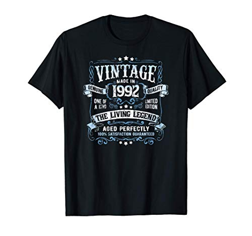 Vintage Made In 1992 Limited Edition 29th Birthday Party Maglietta