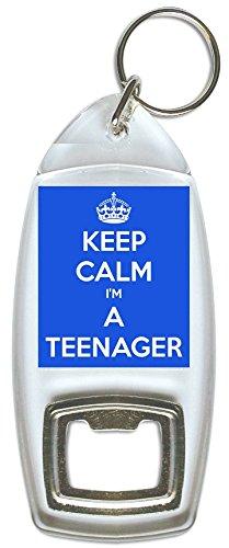 Keep Calm I'm A Teenager - Portachiavi apribottiglie (blu)