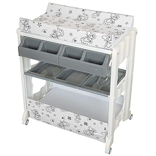 ib style®ISA table à langer   commode à langer mobile   avec rux  4 designs   Butterfly