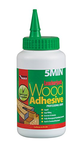 Everbuild Lumberjack 5 minute Polyurethane Wood Adhesive Liquid, 750 g