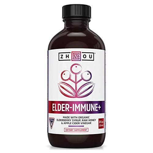 Zhou Elderberry Syrup   Immune System Booster During Cold Winter Months   8 fl oz