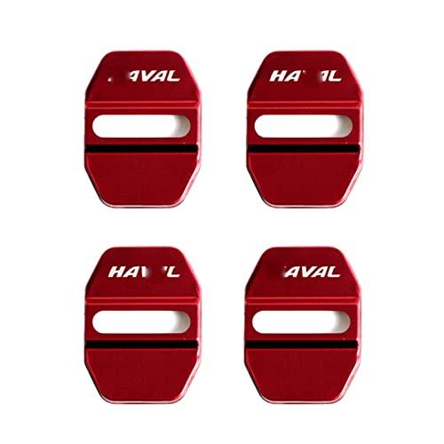 4 Piezas Decoración Protectora De La Cubierta De La Cerradura De La Puerta del Coche para H-aval F7 H6 F7x H2 H3 H5 H7 H8 H9 (Color : Red)
