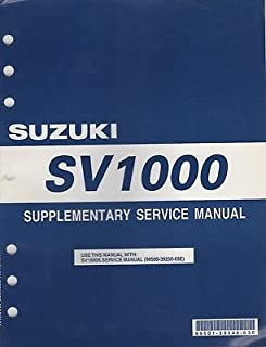 2003 SUZUKI MOTORCYCLE SV1000 SERVICE SUPPLEMENT MANUAL P/N 99501-39540-03 (453)