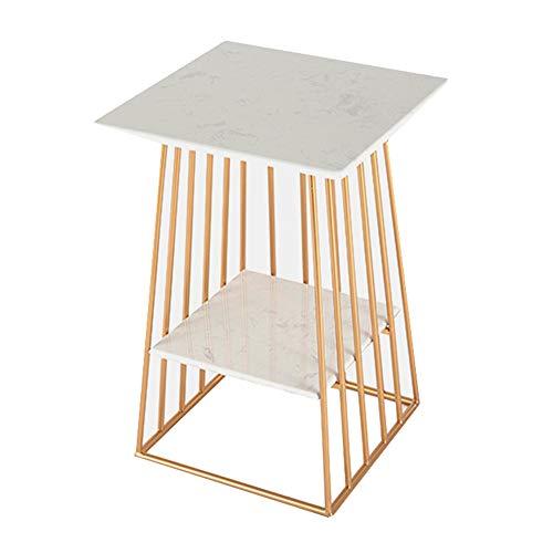 Axdwfd Tafels Industriële Side Table, Nachtkastje, salontafel met 2 planken, for de woonkamer, slaapkamer, Stabiel metalen frame