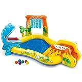 ZFAYFMA Piscina hinchable de remo para niños, piscina con pozo grueso deslizante, juego de fiesta en el agua y el océano, color amarillo