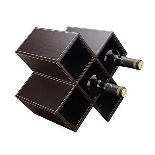 DYB Estante para Vino, Madera, 5 Botellas, Soporte para Botellas de Vino, sobre Mesa, Estante para Vino de pie, para decoración del hogar, Gran Regalo (tamaño; 28 * 20 * 28 cm) (Color: n. ° 1)