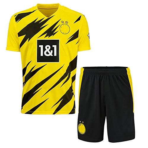2020/2021 Neue Saison Kind Fußball Trikot Kits, Neues Fan Trikot Fußballtrainingsuniform, Personalisierte Fußballanzüge (Mit Logo) -Yellow-S