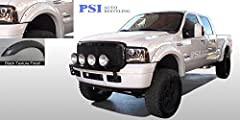 """Custom Designed To Complement Oversize Tires And Lift Kits Made Of Strong ABS Material w/Durability And Flexibility In Mind Complete Set of Front and Rear; 5.5"""" Flare Width and 2.0"""" Flare Coverage UV Protected To Avoid Chalking, Come Tough OEM Style ..."""