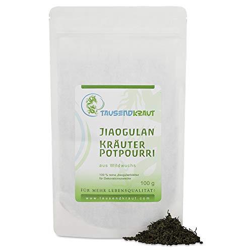 Tausendkraut Premium Jiaogulan - 100g - Frische Ernte - Unsterblichkeitskraut - Nachhaltiger...