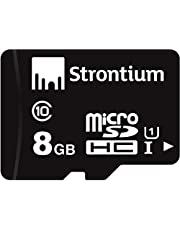 Strontium MicroSD Class 10-8GB Memory Card (Black)
