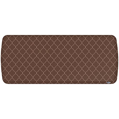 """GelPro Elite Premier Anti-Fatigue Kitchen Comfort Floor Mat, 20x48"""", Trellis Walnut Stain Resistant Surface with Therapeutic Gel and Energy-return Foam for Health and Wellness"""