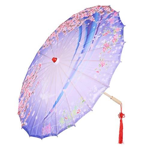 HEALLILY Öl Papier Regenschirm Blume Traum Muster Chinesischen Stoff Regenschirm Japanischen Regenschirm Sonnenschirm für Hochzeitsfeier Fotografie Kostüme Cosplay Tanzdekoration