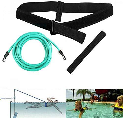 KIKILIVE schwimmgurt für Pool schwimmtrainer Pool schwimmgürtel schwimmgurt Erwachsene schwimmgurt Kinder,Einstellbare schwimmtrainer Erwachsene Gürtel Leine Pool Aqua Fitnessgeräte