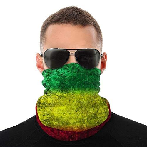 Máscara facial bandana para hombres y mujeres, bandera reggae rasta león, máscara de media cara, protección contra rayos UV, polvo, viento, transpirable, bufanda para cuello, bufanda blanca