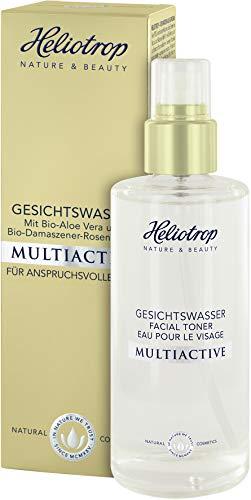 HELIOTROP Naturkosmetik MULTIACTIVE Gesichtswasser, Befreit gründlich von Make-up & Verunreinigungen, Schützt vor Feuchtigkeitsverlust, Vegan, 120ml