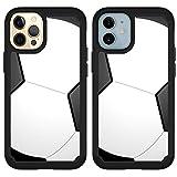 OptiCase iPhone 12 Case, iPhone 12 Pro Case - Soccer Printed Designer Hybrid Case - Unique Shockproof Heavy Duty Protection iPhone 12 Case/iPhone 12 Pro Case [6.1']