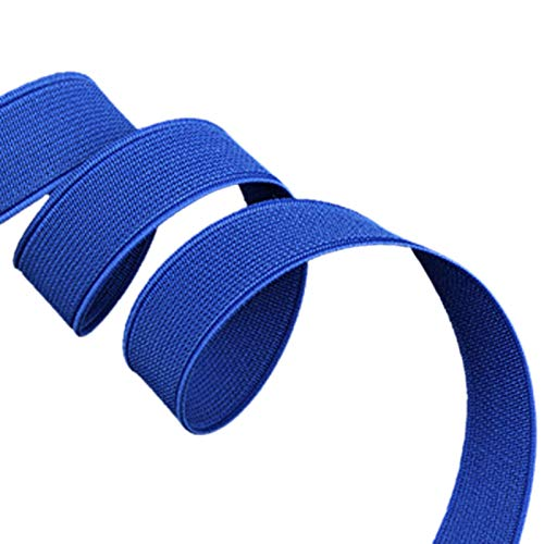 ModeFan Knit Elastic 1/2 inch Wide Blue Heavy Stretch High Elasticity Elastic Band 17 Yards Long