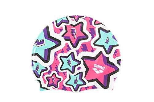 Arena Print Junior, Cuffia Unisex Bambini, Multicolore (Frolic Violet), Taglia Unica