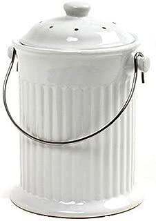 Norpro 93 1 Gallon Ceramic Compost Keeper, White