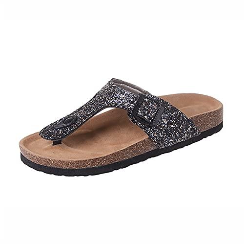 SKYWPOJU Chanclas para Mujer Sandalias con Separador de Dedos Sandalias de Plataforma ortopédica Zapatillas de Verano Zapatos de Playa con Plataforma Sandalias con Plataforma abatible Mulas