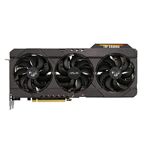 ASUS TUF GAMING NVIDIA GeForce RTX 3070 V2 OC Edition – Carte Graphique Gaming (PCIe 4.0, 8GB GDDR6, HDMI 2.1, DisplayPort 1.4a, ventilateurs à double roulement à billes, GPU Tweak II)