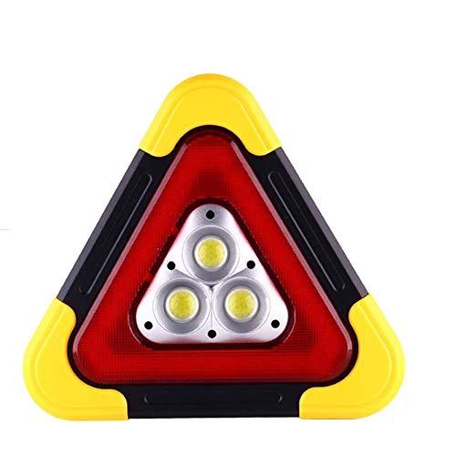 TENGXI Solar Power LED Flashing Warning Sign, 180 Degree Adjustable 5 Lighting Modes LED Warning Light for Hunting Camping Fishing