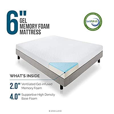 Lucid 6 Inch Memory Foam Mattress