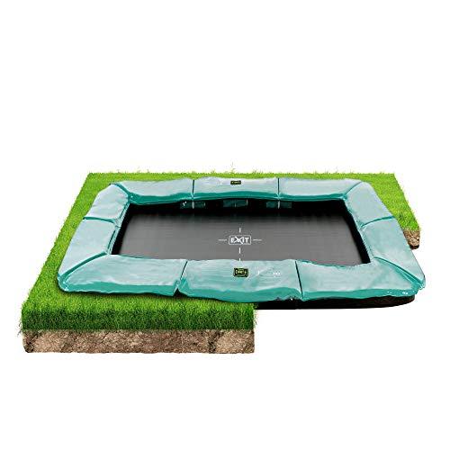 EXIT Supreme Bodentrampolin 244x427cm - grün