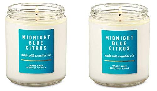 dealportal Midnight Blue Citrus Single Wick Candles (2 Jars)