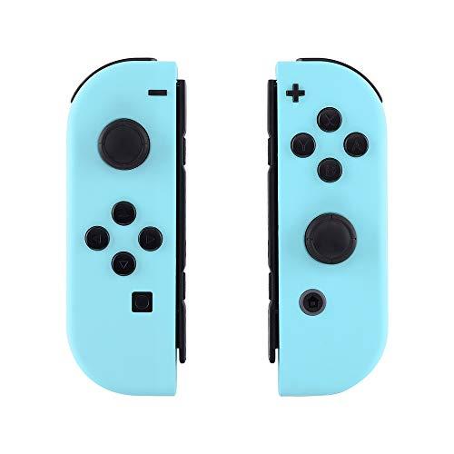 eXtremeRate NS Hülle Gehäuse Case Cover Schale Schutzhülle Tasche Kit für Nintendo Switch Joycon Controller mit vollständige Tasten(Himmelsblau)-Keine Console Hülle