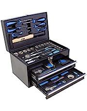Karcher Verktygslåda – 117-delars verktygssats av krom vanadin och kolstål med hammare, skruvdragare, hylsnyckel, bitsats och mycket mer.