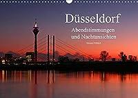 Duesseldorf Abendstimmungen und Nachtansichten (Wandkalender 2022 DIN A3 quer): Bilder aus Duesseldorf im abendlichen Glanz (Monatskalender, 14 Seiten )