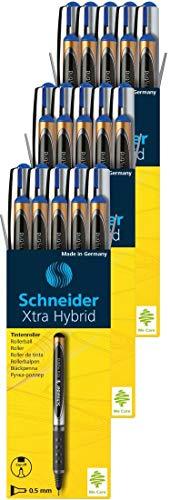 Schneider Xtra Hybrid Rollerball Pens, 0.5mm, Blue Ink, 30 Pack (30183)