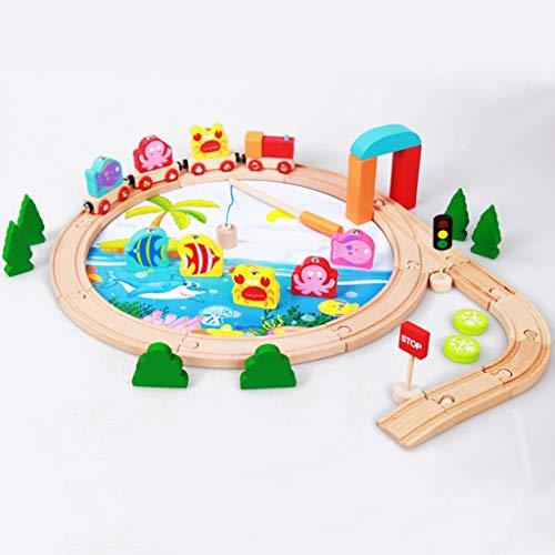 ZKW-Track Tren de Juguete de 40 Piezas de Pistas ferroviarias Set Accesorios eléctricos Trenes Coches Cabeza for los Regalos de niño y niña de la Pista Modelo unión de Bloques (Color : 40 Pieces)