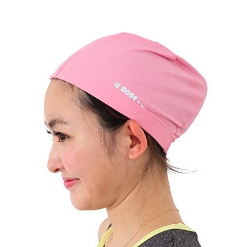 LE MODE de toi(ル モード デ トア)スイムキャップ 水泳 キャップ スイミングキャップ ゆったりサイズ 男女兼用 ブラック C-bousiFS-ro-BK (ピンク(日本製), M)