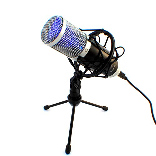 MCU-02 Hi-End USB Studio Kondensatormikrofon Großmembran / Windows Android MAC / Rap Gesang Podcast Instrumente / Kondensator Mikrofon Mikrofonspinne Nierencharakteristik 20-20000Hz Recording Tools, Home Office, Videokonferenz, online lernen, Unterricht, Streaming