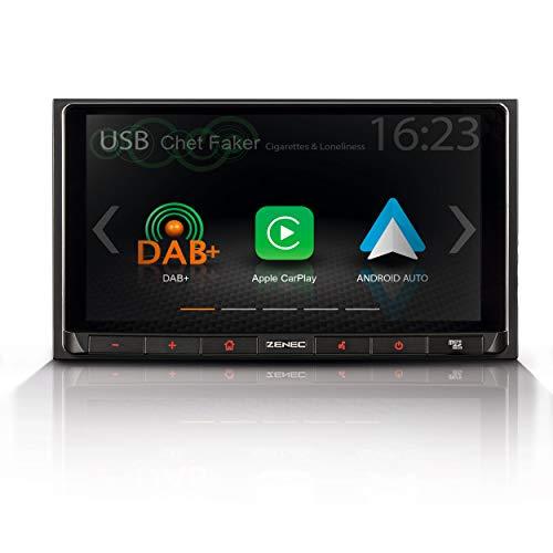 """ZENEC Z-N528: 2-Din Autoradio/Infotainer, Multimediasystem mit 17,1 cm / 6,75"""" Touchscreen, DAB+, Bluetooth, USB, Mediencenter mit Apple CarPlay und Google Android Auto"""