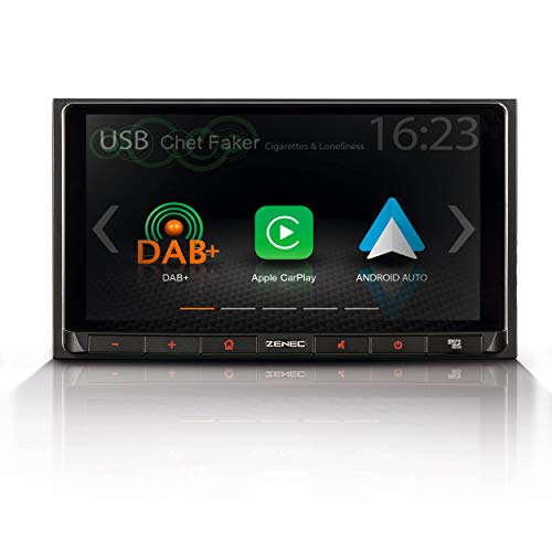 "ZENEC Z-N528: 2-Din Autoradio/Infotainer, Multimediasystem mit 17,1 cm / 6,75"" Touchscreen, DAB+, Bluetooth, USB, Mediencenter mit Apple CarPlay und Google Android Auto"