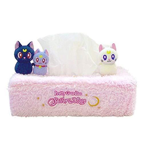 Acccity Sailor Moon Diorama Box Taschentuchhalter Plüsch Serviette Papierhandtuch Plüsch Spielzeug Puppe Cosplay Kostüm Rose