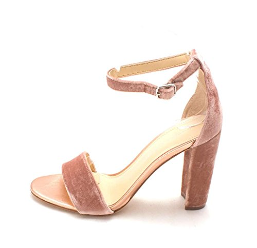 Ivanka Trump Womens Emalyn Leather Open Toe Formal Ankle Strap Heeled Sandals Pink Size 8.5 M US