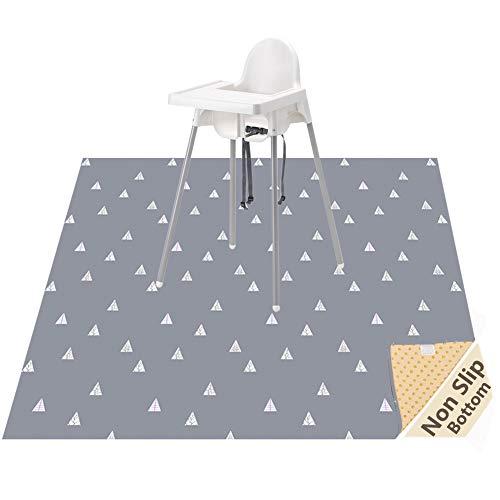 Baby Splat Mat voor onder hoge stoel/kunsten/vlotten, Womumon waterdichte spenen Mat anti-slip Splash Mat, wasbare knoeien Mat kinderstoel Vloermat