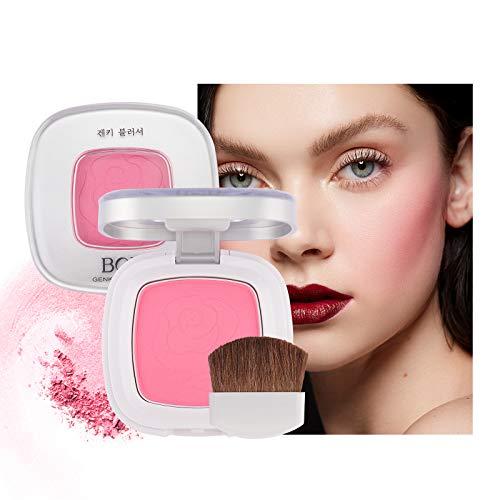 Mimore Mineral Rouge,Grausamkeitsfreie Rouge Matte Rouge Makeup Palette Weiche Textur Rouge Makeup, Wange für alle Hauttöne, Dauerhaftes Erröten, Mit Pinsel und Schminkspiegel(01)