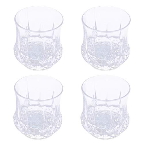 Mobestech Bicchieri da 4 bicchieri a led in cristallo di ananas con tazze di acqua incandescente illuminano il bicchiere per la festa del bar club