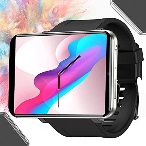 BLLJQ Reloj Inteligente Hombres Mujeres, Reloj Inteligente GPS Bluetooth, IP67 Prueba Agua, 2.86'Pantalla Táctil Color, Batería Duradera 2880mAh, con Cámara 800 W, para Teléfonos Android,Plata