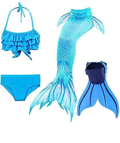shepretty Meerjungfrauenschwanz zum Schwimmen für Kinder,DH53,150